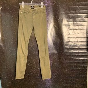 BDG- High Rise Cigarette Green Ankle Pants sz 25
